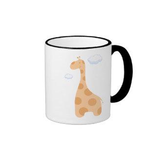 Taza de la jirafa del dibujo animado