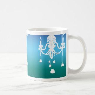 Taza de la lámpara (azules de océano)