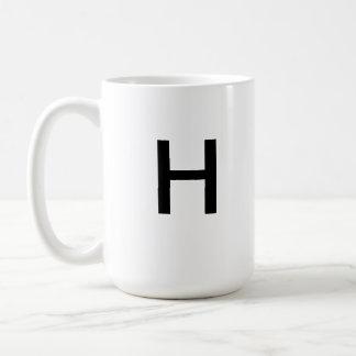 Taza de la letra H