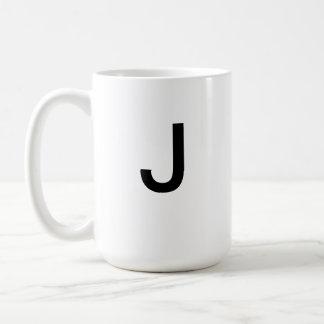 Taza de la letra J