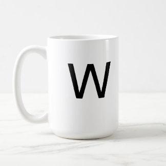 Taza de la letra W