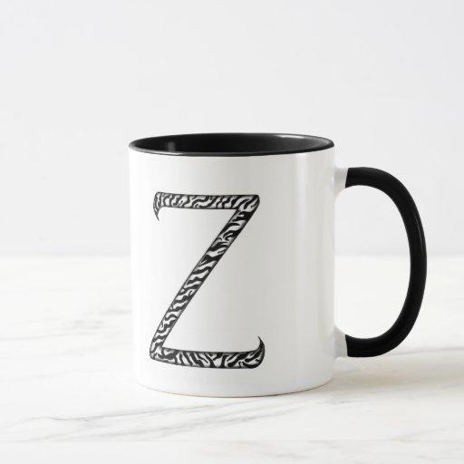 Taza de la letra Z del monograma
