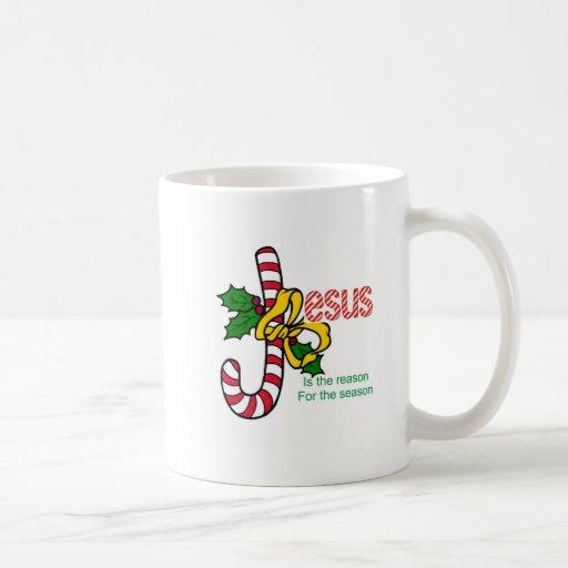 Taza de la leyenda del bastón de caramelo de Jesús