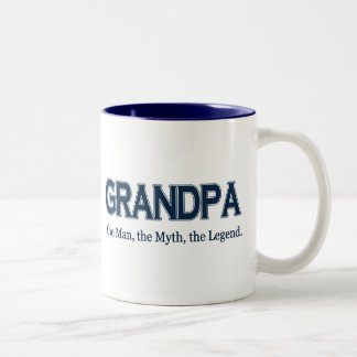 Taza de la leyenda del mito del hombre del abuelo