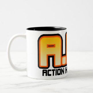 Taza de la liga del héroe de la acción