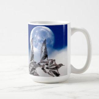 Taza de la luna del ave marina