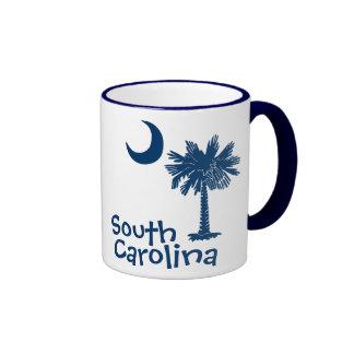 Taza de la luna del Palmetto de Carolina del Sur