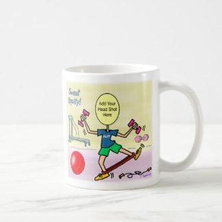 Taza de la mamá café del ejercicio