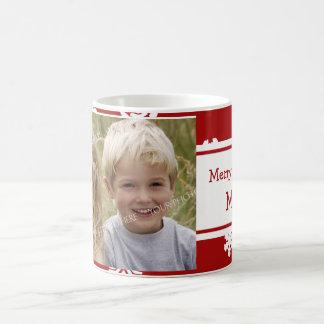 Taza de la mamá de las Felices Navidad de la foto