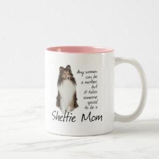 Taza de la mamá de Sheltie