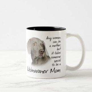 Taza de la mamá de Weimaraner