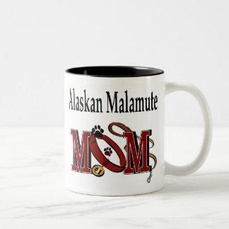 Taza de la mamá del Malamute de Alaska