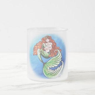 Taza de la mamá vidrio esmerilado de la sirena