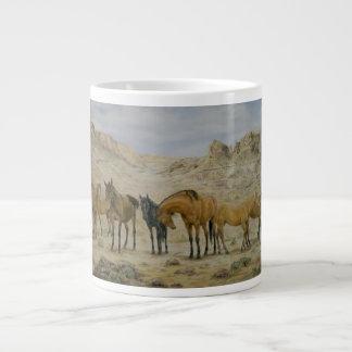 Taza de la manada del caballo tazas jumbo