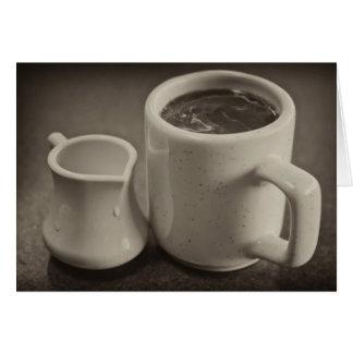 Taza de la mañana de café felicitacion