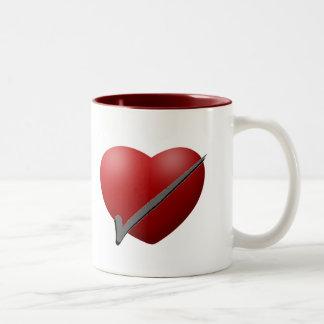 Taza de la mañana del control del corazón