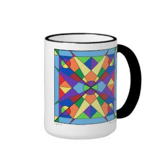 Taza de la mandala de Origami Sun