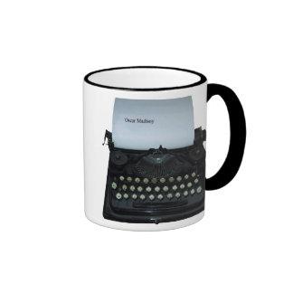 Taza de la máquina de escribir de Óscar Madisoy