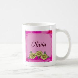Taza de la margarita de Olivia