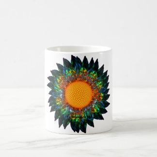 Taza de la margarita del resplandor solar