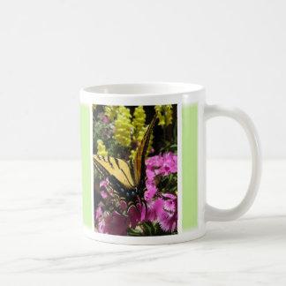 Taza de la mariposa (1: ) - Personalizable verde