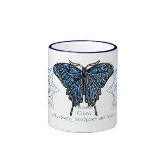 Taza de la mariposa de diciembre Birthstone