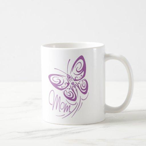Taza de la mariposa de la mamá