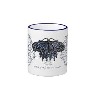 Taza de la mariposa de septiembre Birthstone