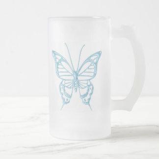 ¡Taza de la mariposa del arándano.!
