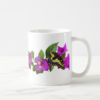Taza de la mariposa del Bougainvillea