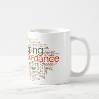 Taza de la mezcla de la palabra de la danza del ar