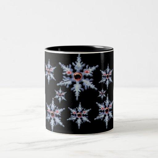 taza de la mordedura del copo de nieve