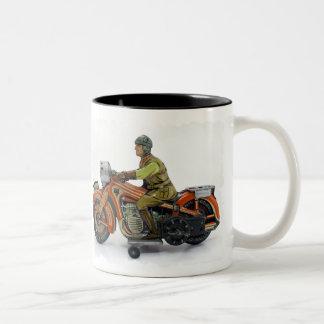 Taza de la motocicleta del juguete del vintage