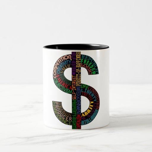 Taza de la muestra de dólar