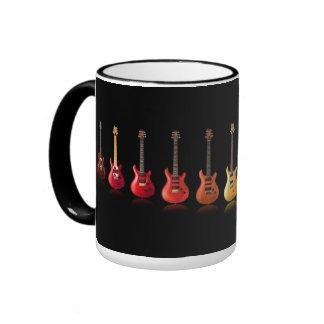 Taza de la música del amante de la guitarra