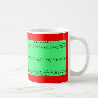 Taza de la música del navidad de O Tannenbaum