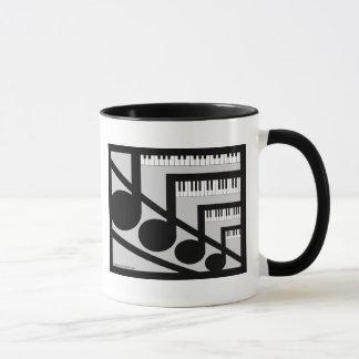 Taza de la música del piano