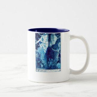 Taza de la ninfa de madera - azul/trullo