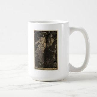 Taza de la ninfa de madera - sepia
