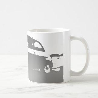 Taza de la obra clásica de Fiat 500 - gris oscuro