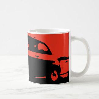 Taza de la obra clásica de Fiat 500 - rojo en