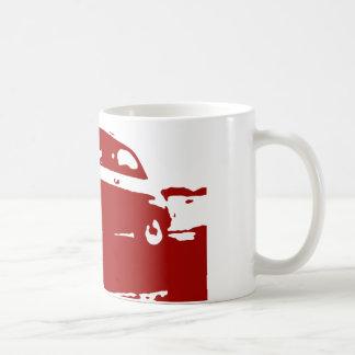 Taza de la obra clásica de Fiat 500 - rojo en luz