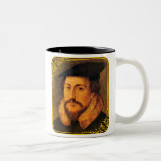 Taza de la obra clásica de Juan Calvino