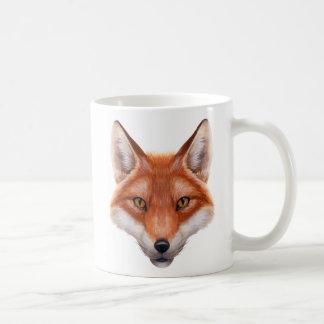 Taza de la obra clásica de la cara del Fox rojo