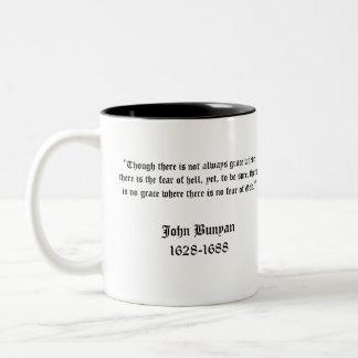 Taza de la obra clásica del Bunyan de Juan