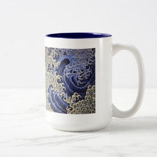 Taza de la onda de Katsushika Hokusai