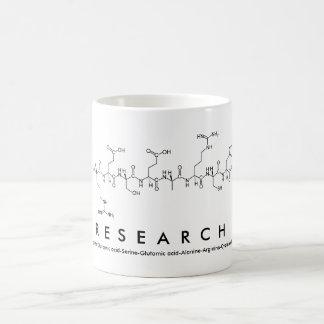 Taza de la palabra del péptido de la investigación