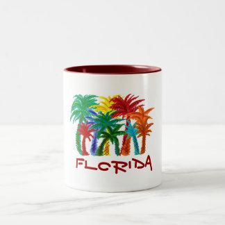 Taza de la palmera de la Florida