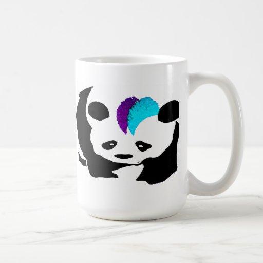 Taza de la panda del Mohawk