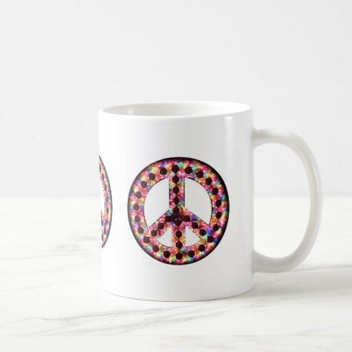 taza de la paz de 5 colores